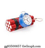 Tnt - Tnt, Dynamite Time Bomb On A White Background.