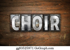 Choir - Choir Concept Metal Letterpress Type