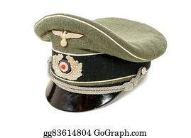 Military-Eagle-Emblem - German In The Second World War. German Officer Uniform Cap