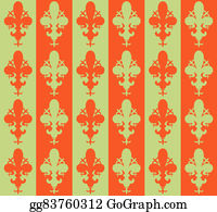 Fleur-De-Lys - Seamless Victorian Flower Background, Wallpaper. Vector Fleur De Lys
