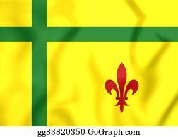 Prairie - Flag Of Fransaskois, Canada.