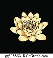 Golden-Lotus-Flower-Logo - Lotus Flowers Icon