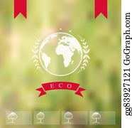 Eco-Friendly-Label - Blurred Background With Eco Badge, Ecology Label
