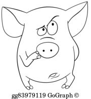 Cartoon-Farm-Animals-Card - Cute Cartoon Pig