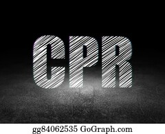 Cpr - Health Concept: Cpr In Grunge Dark Room