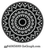 Apache - Tribal Folk Aztec Geometric Pattern