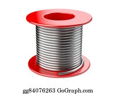 Coil - Red Coil With Wire.