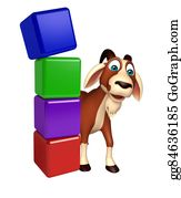 Goat-Cartoon - Fun Goat Cartoon Character With Level