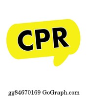 Cpr - Cpr Wording On Speech Bubbles Yellow Rectangular