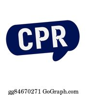 Cpr - Cpr Wording On Speech Bubbles Blue Cylinder