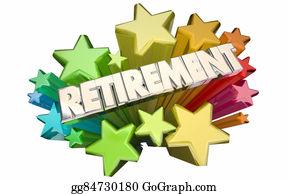 Retirement-Party - Retirement Farewell Going Away Employment Ending 3d Stars Words