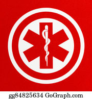 Cpr - Red Medical Symbol