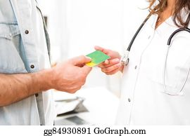 Health-Insurance-Card - Young Attractive Doctor Taking Health Insurance Card