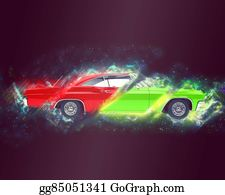 Muscle-Car - Abstract Muscle Car Illustration