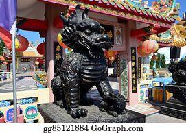 Beautiful-Unicorn - Dragon-Headed Unicorn Called Qilin Or Kylin Statue