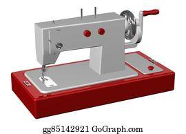 Sewing-Machine - Sewing Machine. 3d Rendering.