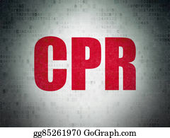Cpr - Health Concept: Cpr On Digital Paper Background