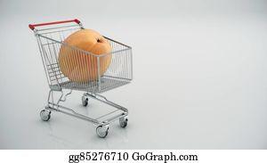 Nectarine - Shopping Cart With Peaches