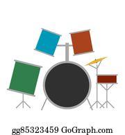 Drum-Set - Drum Set Flat Icon