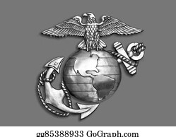 Military-Eagle-Emblem - Marine Eagle ,globe And Anchor.