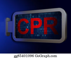 Cpr - Medicine Concept: Cpr On Billboard Background