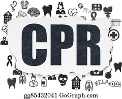 Cpr - Healthcare Concept: Cpr On Torn Paper Background