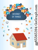 House-Alarm-Concept-Icon - Smart House And Cloud Apps