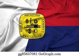 Memphis - Waving Flag Of Memphis, Tennessee