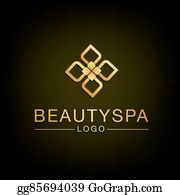 Golden-Lotus-Flower-Logo - Flower Spa Logo Design. Vector And Illustration.