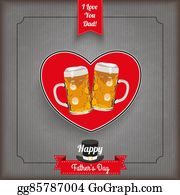 I-Love-You-Dad - Vintage Ribbon Heart Beer Father's Day