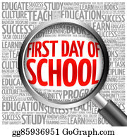 First-Day-Of-School - First Day Of School Word Cloud