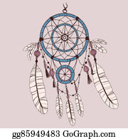 Dream-Catcher - Dreamcatcher, Feathers And Beads.