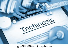 Nematode - Trichinosis Diagnosis. Medical Concept. 3d.