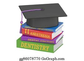 Medical-Textbook - Dental Education Concept, 3d Rendering