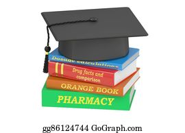 Medical-Textbook - Pharmacy Education Concept, 3d Rendering