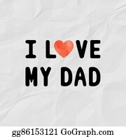 I-Love-You-Dad - I Love My Dad With Red Watercolor Heart