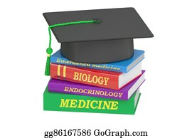 Medical-Textbook - Medicine Education Concept, 3d Rendering