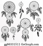Dream-Catcher - Big Collection Or Set Of Hand Drawn