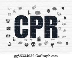 Cpr - Health Concept: Cpr On Wall Background