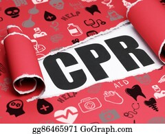 Cpr - Medicine Concept: Black Text Cpr Under The Piece Of  Torn Paper
