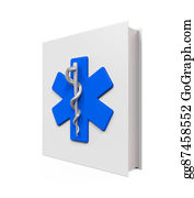 Medical-Textbook - Medical Book With Star Of Life