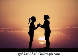 Best-Friends - Best Friends At Sunset