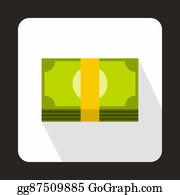 Hard-Cash - Swiss Franc Banknote Icon, Flat Style