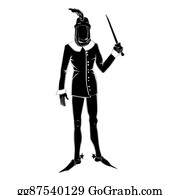 Spurs - Gothic Costume Man Silhouette