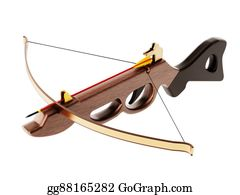 Crossbow - Vintage Crossbow Isolated On White Background. 3d Illustration