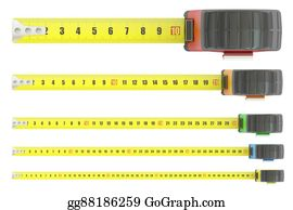 Millimeter - Measuring Tapes, 3d Rendering