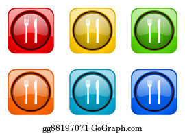 Dinner-Icons - Eat Colorful Web Icons