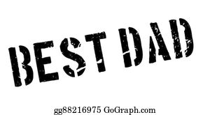 Bosses-Day - Best Dad Rubber Stamp