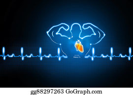 Conduction - Healthy Heart Background