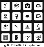 Medical-Textbook - Science Icons Set, Simple Style